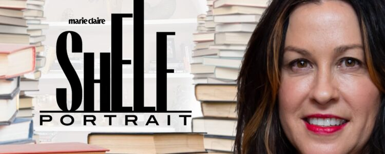 "Alanis Reveals Her Favourite Books in Marie Claire's ""Shelf Portrait"" Series"
